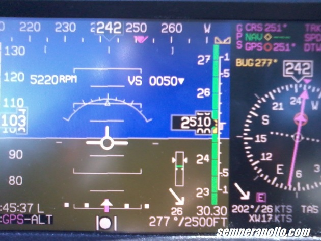 Oh, I see you've already figured out my wind correction angle. And you're telling me my RPM, VS, wind direction, autopilot mode, altitude, airspeed and energy state all at once. My you're informative!