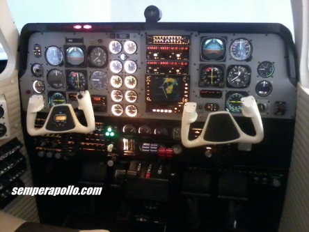 Yes, it's a simulator! A lot cheaper than a real Baron per hour and easier to set up for the exact conditions the instructor wants to expose you to.