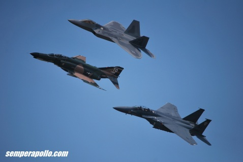 F-4, F-22 and F-15E all with highly swept, low aspect ratio wings.